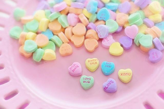 Valentine Candy Hearts - Free photo on Pixabay (407946)