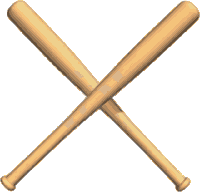 Baseball Bats Crossed - Free vector graphic on Pixabay (408652)