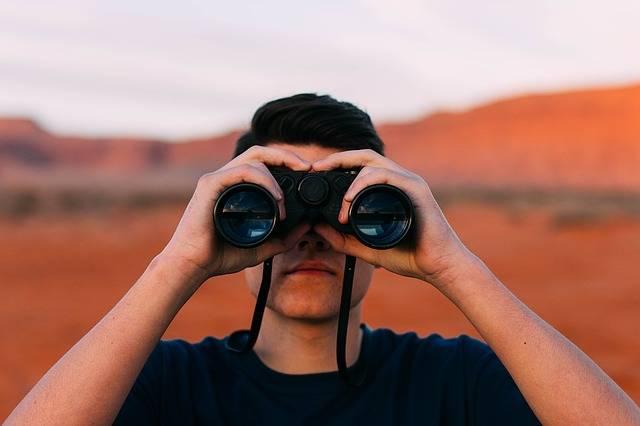 Binoculars Looking Man - Free photo on Pixabay (411271)