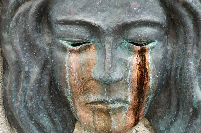 Sculpture Mask Tears Bronze - Free photo on Pixabay (428914)