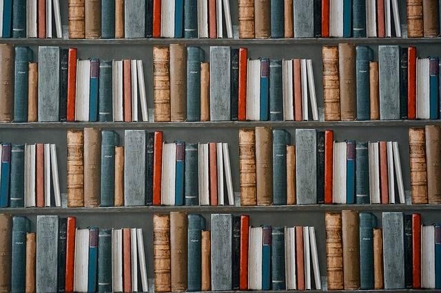 Books Bookshelf Library - Free photo on Pixabay (429521)
