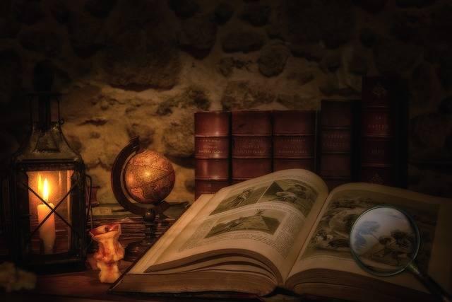 Old Book Lantern Magnifying Glass - Free photo on Pixabay (432639)