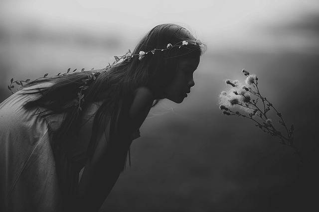 Young Girl Mystical Black And - Free photo on Pixabay (435514)