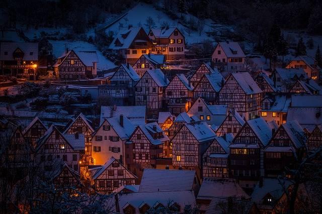 Architecture Fachwerkhäuser Night - Free photo on Pixabay (449650)