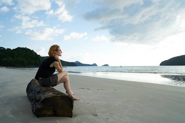 Loneliness Woman Beach - Free photo on Pixabay (452306)