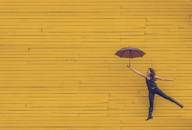 Woman Umbrella Floating - Free photo on Pixabay (453739)