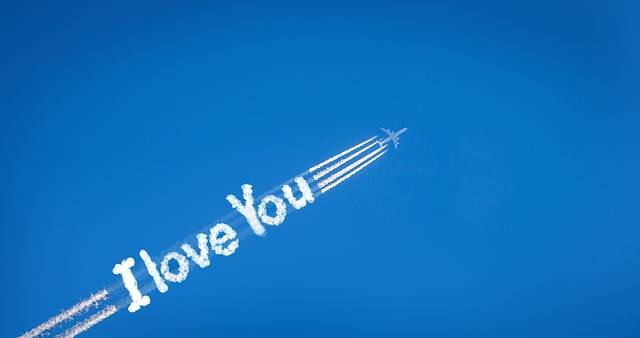 Contrail Route Love - Free image on Pixabay (453928)
