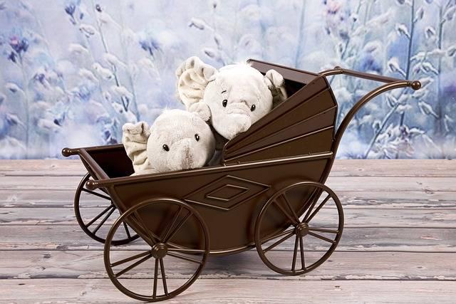 Stroller Elephants Mascots - Free photo on Pixabay (457835)