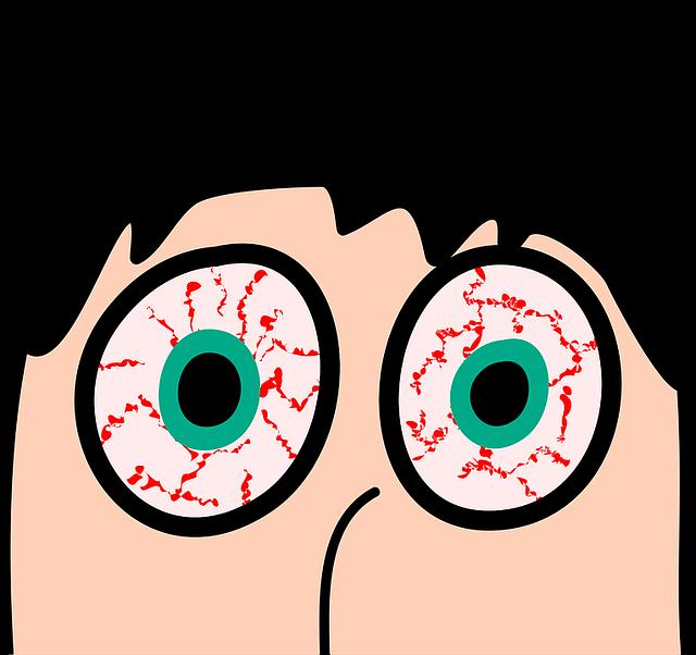 Bloodshot Eyes Face - Free vector graphic on Pixabay (461222)