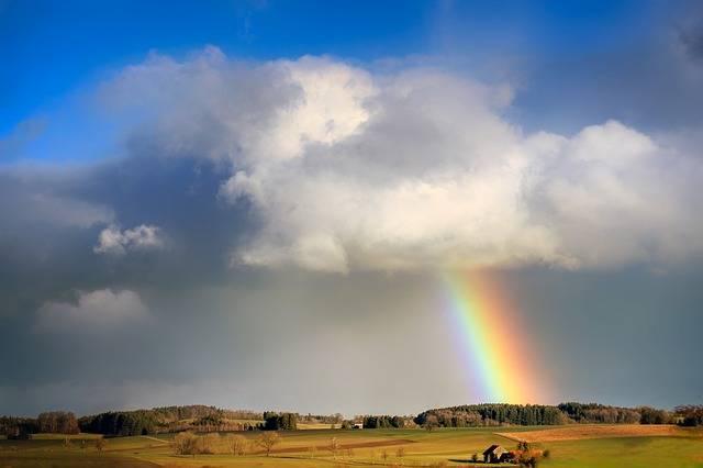 Rainbow Cloud Evening Sun - Free photo on Pixabay (461243)