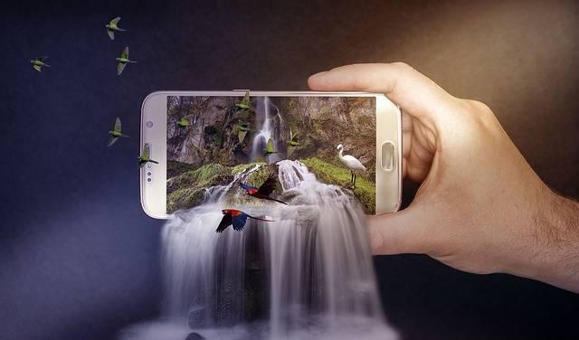 Waterfalls Phone Smartphone - Free photo on Pixabay (465328)