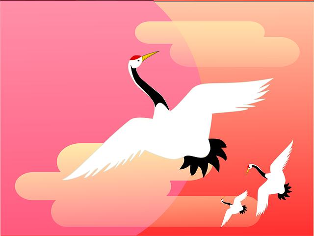 Crane Asahi Cloud Happy New - Free vector graphic on Pixabay (467409)