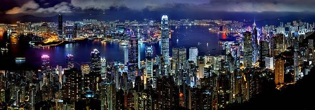 Hong Kong Skyline Night - Free photo on Pixabay (468629)