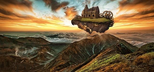 Fantasy Island Floating - Free photo on Pixabay (470545)