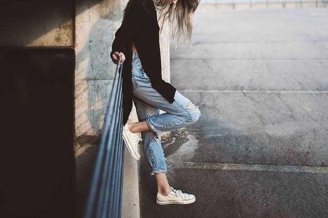 Girl Feet Jeans - Free photo on Pixabay (474459)