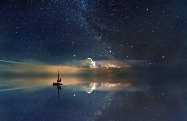 Ocean Starry Sky Milky Way - Free photo on Pixabay (476674)