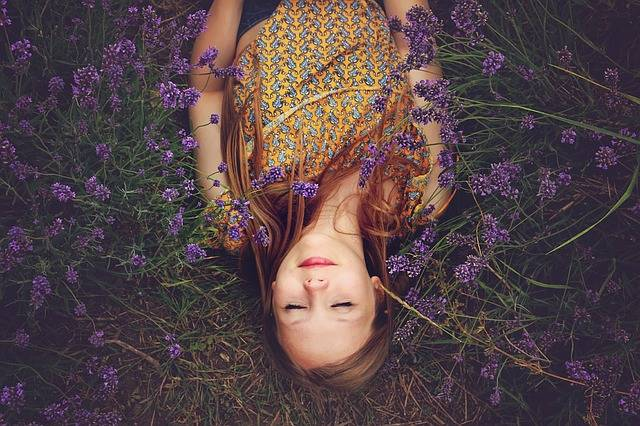 Girl Lavender Asleep - Free photo on Pixabay (478658)