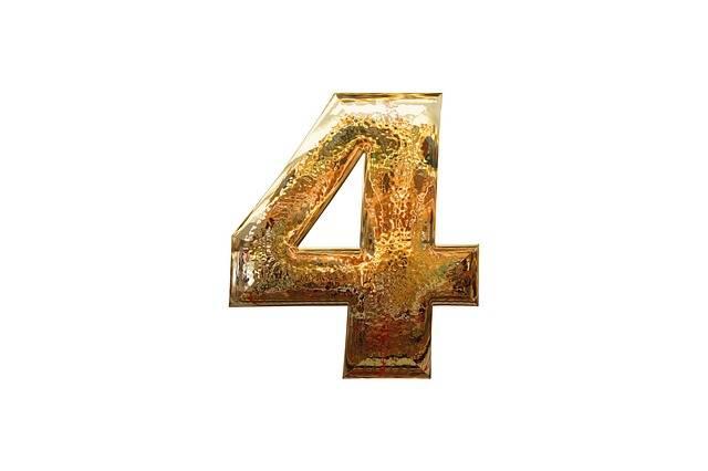 Number Four 4 - Free image on Pixabay (481216)