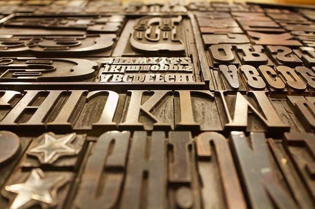 Printing Plate Letters Font - Free photo on Pixabay (502987)