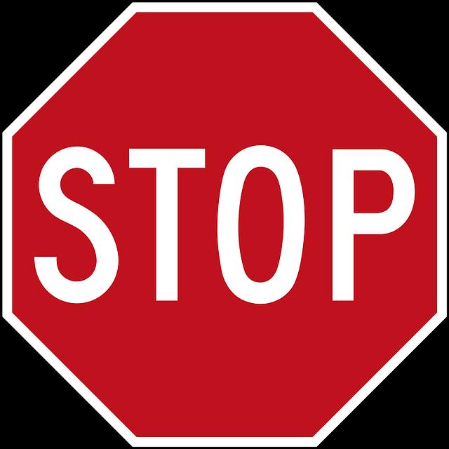 Stop Road Panel - Free image on Pixabay (505557)