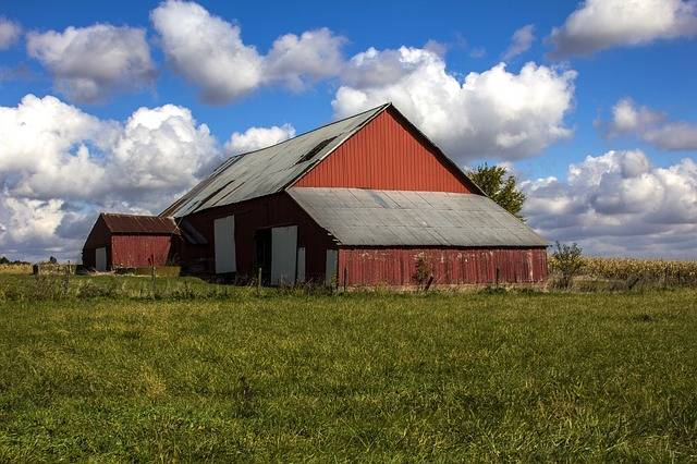 Clouds Barn Sky Blue - Free photo on Pixabay (506098)