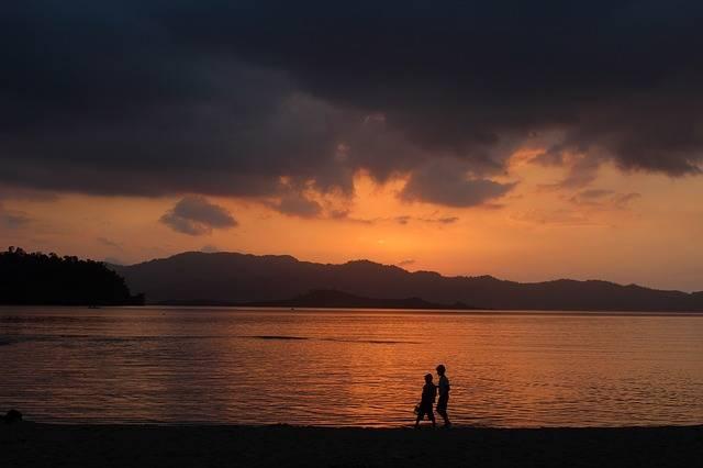 Sunset Beach Walk On The - Free photo on Pixabay (506104)