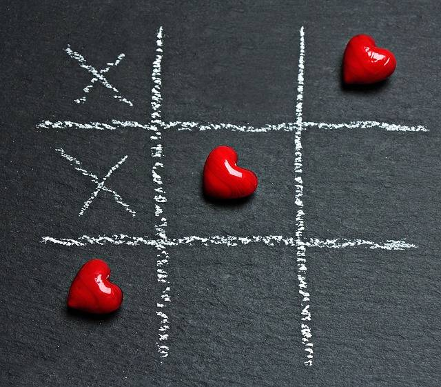 Tic Tac Toe Love Heart - Free photo on Pixabay (507636)