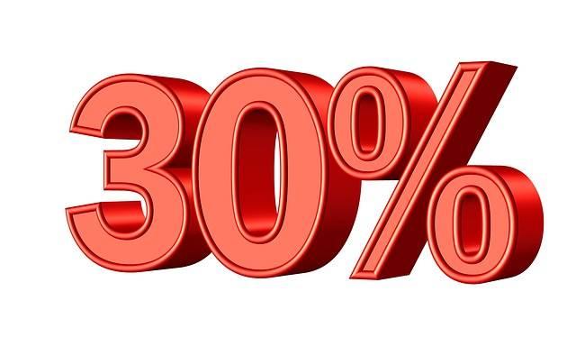 Thirty 30 Percent - Free image on Pixabay (515406)
