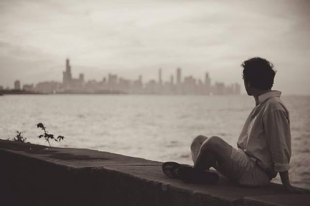 Seaside Man Sitting - Free photo on Pixabay (516605)
