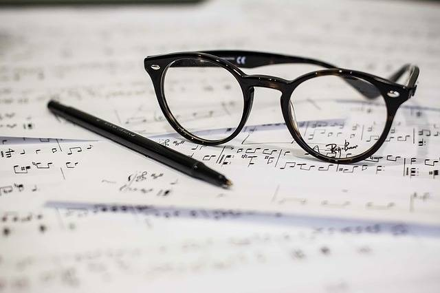 Eyeglasses Music Sheet - Free photo on Pixabay (517509)