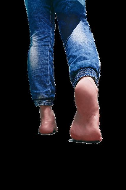 Backlit Barefoot Blue Jeans - Free image on Pixabay (519573)