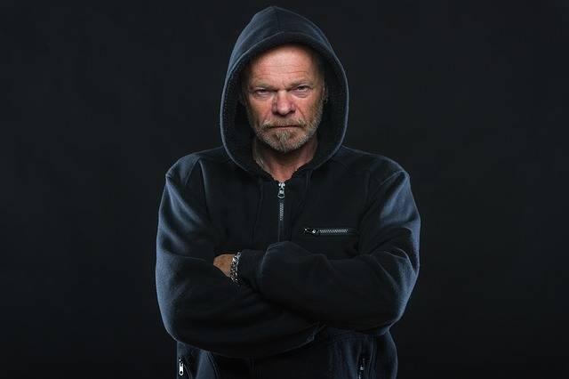 Angry Man Hoodie - Free photo on Pixabay (521470)