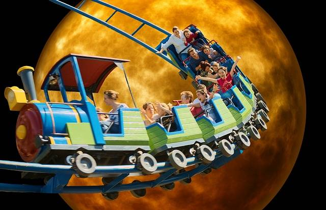 Roller Coaster Moonlight Funny - Free image on Pixabay (525233)