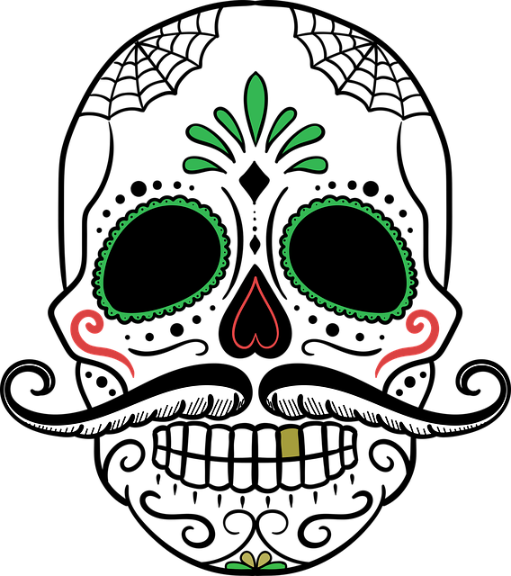 Day Of The Dead Skull Sugar - Free vector graphic on Pixabay (526063)