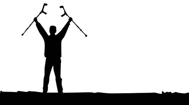 Overcoming Victory Crutch - Free image on Pixabay (526771)