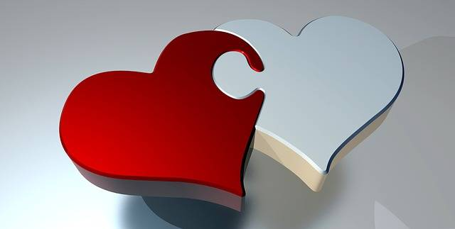 Puzzle Heart Love Two - Free image on Pixabay (528416)