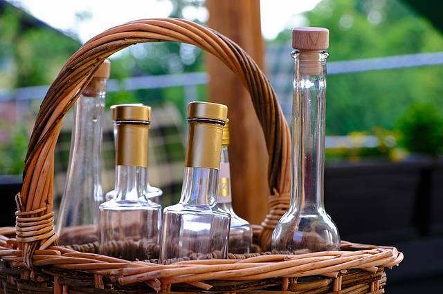Bottles Basket Drink Wicker - Free photo on Pixabay (535243)