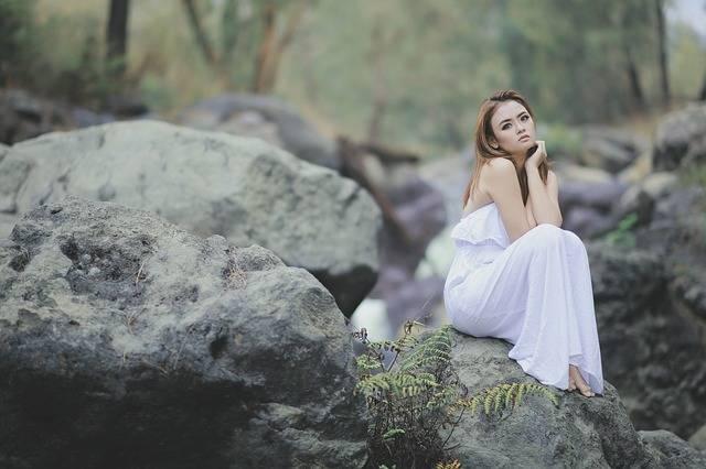 Blushing The Rocks Forest White - Free photo on Pixabay (537101)