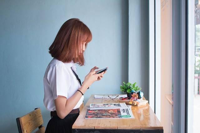 Girl Women Phone - Free photo on Pixabay (537201)