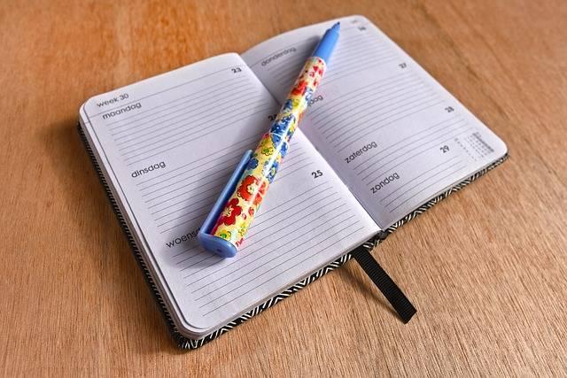 Agenda Note Book Schedule - Free photo on Pixabay (537373)