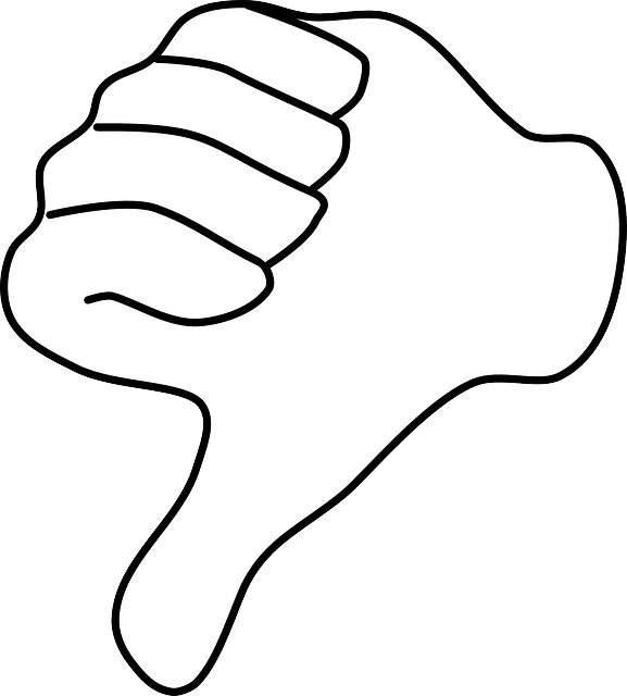 Thumb Down Hand Dislike - Free vector graphic on Pixabay (537488)