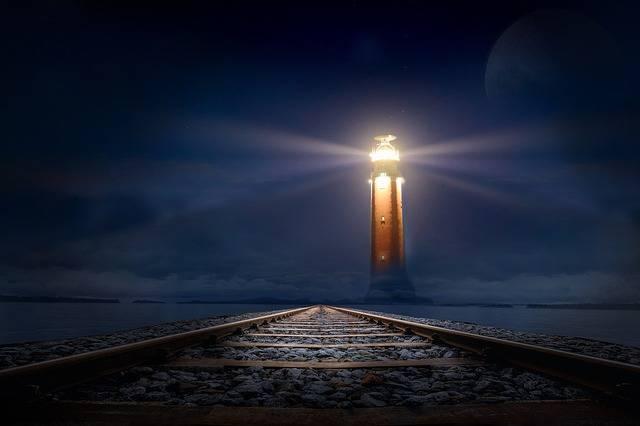 Lighthouse Glow Night - Free photo on Pixabay (539025)