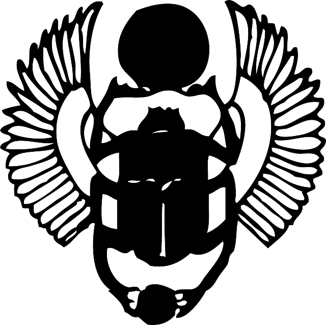 Scarab Black Egyptian - Free vector graphic on Pixabay (539053)
