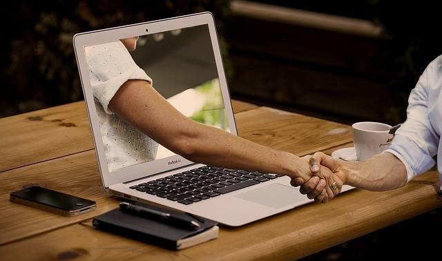 Handshake Hands Laptop - Free photo on Pixabay (544768)