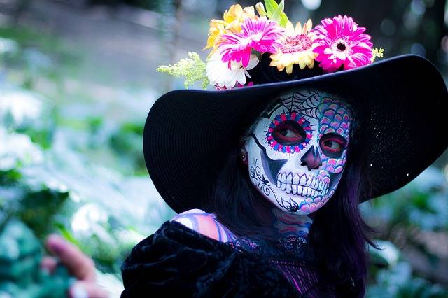 Day Of The Dead Colorful Make Up - Free photo on Pixabay (546196)