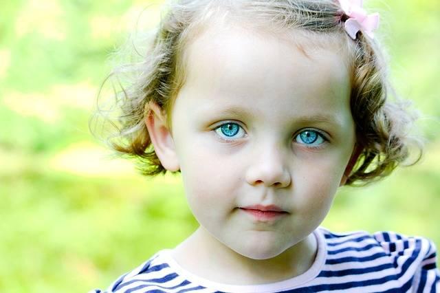 Little Girl Blue Eyes Child - Free photo on Pixabay (546322)