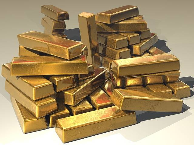 Gold Ingots Golden - Free photo on Pixabay (551727)