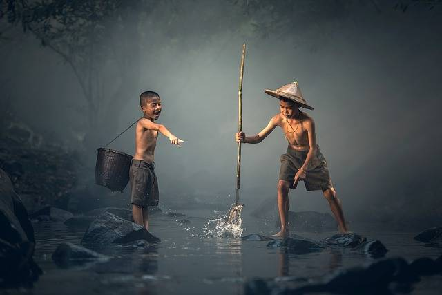 Children Fishing Teamwork - Free photo on Pixabay (554509)