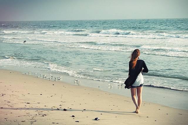 Beach Woman Walking Away - Free photo on Pixabay (558497)