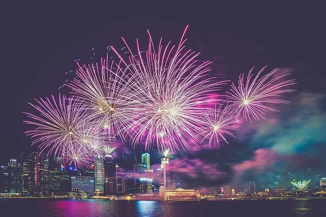 Fireworks Purple City - Free photo on Pixabay (561728)